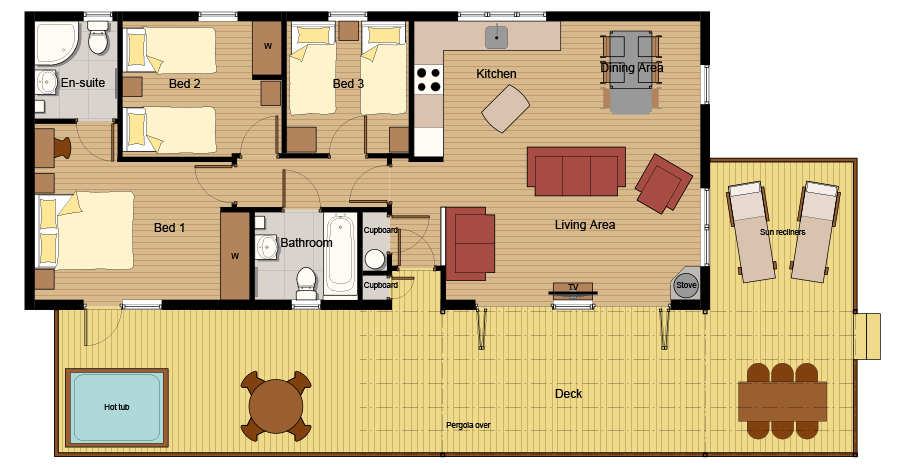 Residence Eco-Lodge 3 Floor Plan
